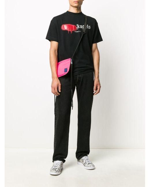 Palm Angels 'Tokyo' T-Shirt mit Spray-Logo in Black für Herren