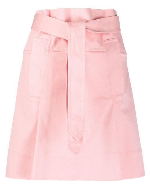 Ferragamo ぺーパーバッグウエスト スカート Pink