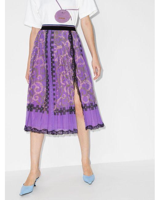 Emilio Pucci プリント スカート Purple