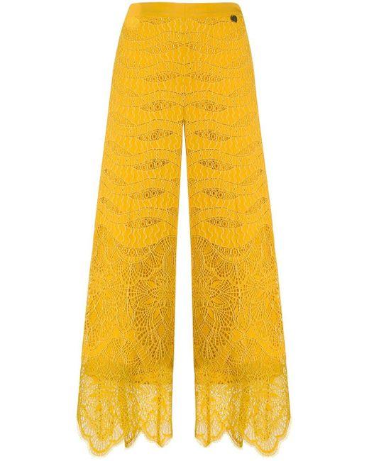 Twin Set クロップドパンツ Yellow