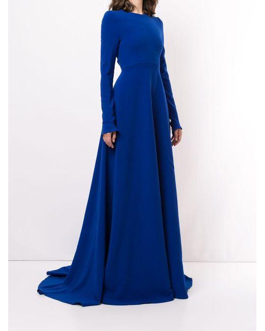 Carolina Herrera プリーツドレス Blue