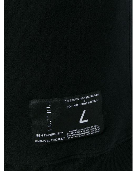 メンズ Unravel Project ドローストリング パーカー Black
