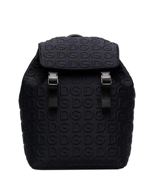 メンズ Dolce & Gabbana エンボスロゴ バックパック Black