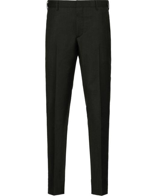 メンズ Prada ストライプ テーラードパンツ Black