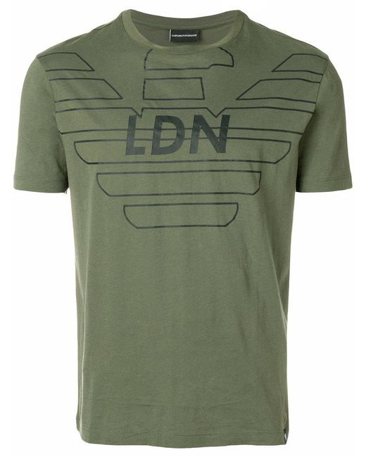 Emporio Armani - Green Ldn Printed T-shirt for Men - Lyst