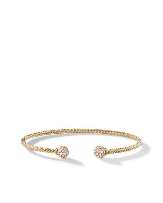 David Yurman Petite Solari Bead ダイヤモンド カフブレスレット 18kイエローゴールド Multicolor