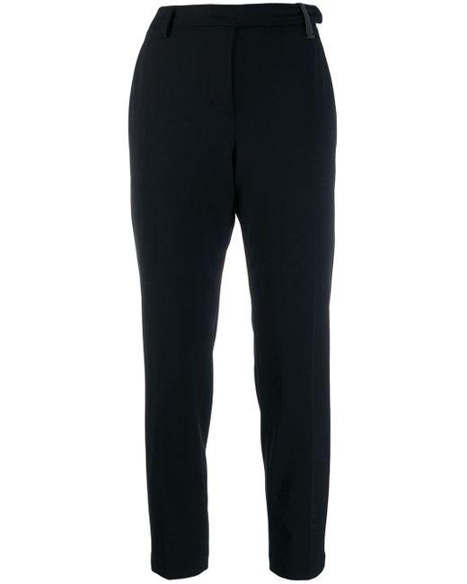 Brunello Cucinelli Black Cropped Suit Trousers