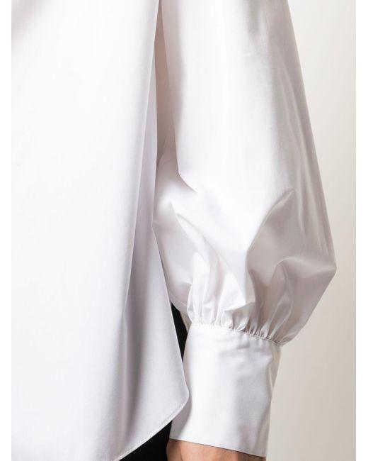 Jason Wu ノーカラー シャツ White