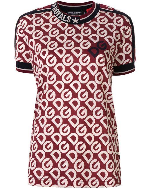 Dolce & Gabbana Dg エンブロイダリー Tシャツ Red