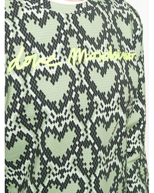 Толстовка С Узором И Логотипом Love Moschino, цвет: Green