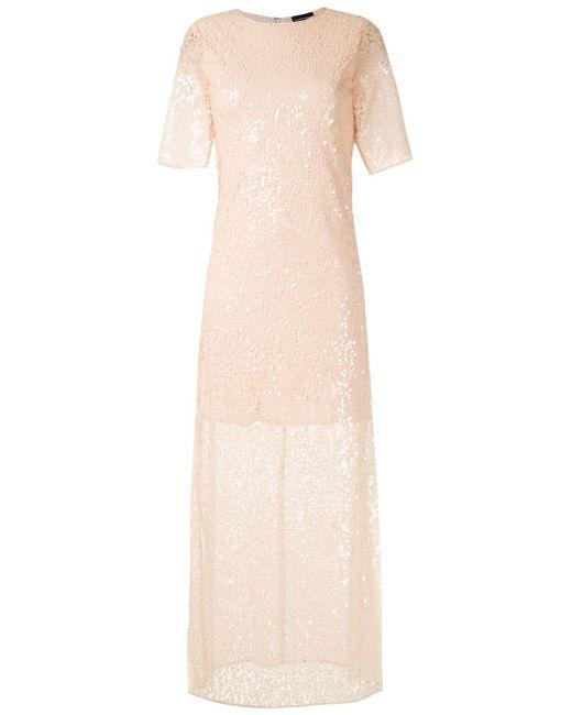 Emporio Armani スパンコールトリム ドレス Pink