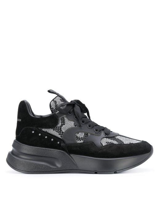 Alexander McQueen Black Oversized Runner Sneakers for men