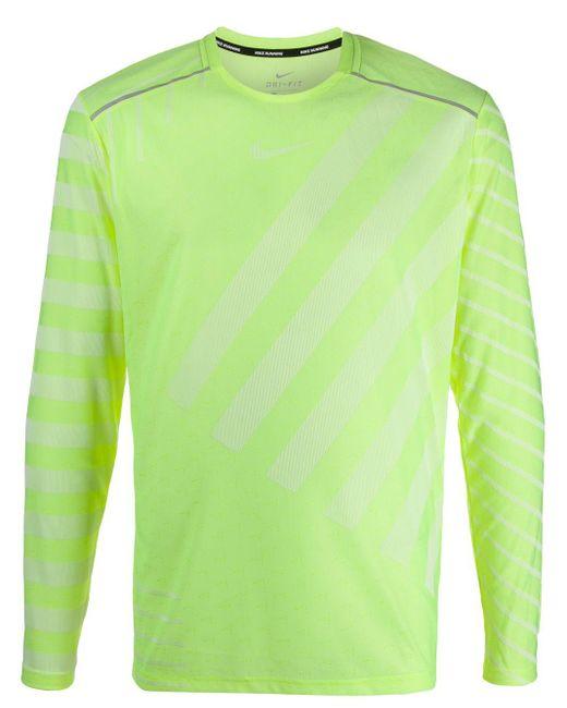 メンズ Nike Techknit ランニング トップ Green