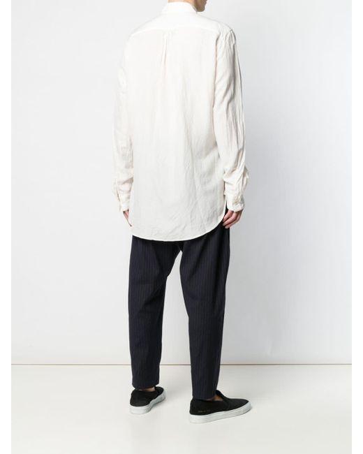 メンズ Attachment ベルトディテール シャツ White
