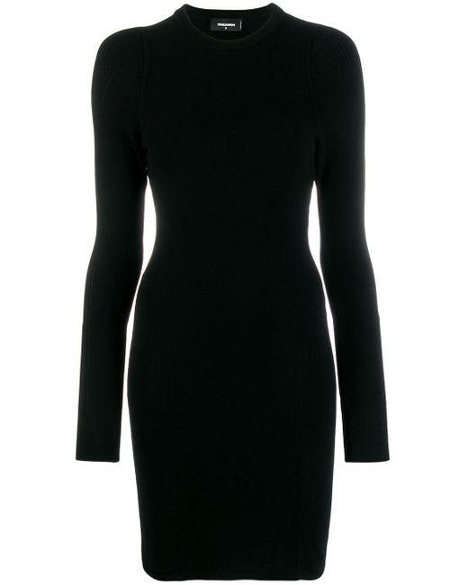 DSquared² ロングスリーブ ドレス Black