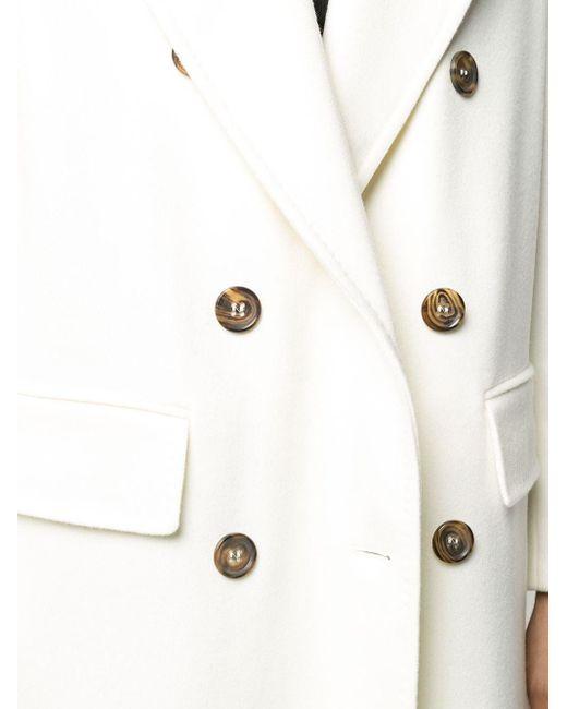 Alberto Biani Double-breasted Cotton Midi Coat White