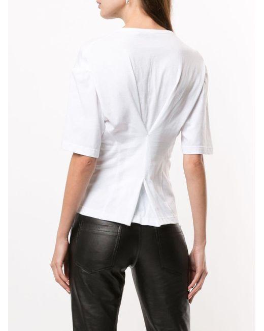 Christopher Esber シャーリング Tシャツ White