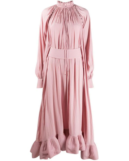 Lanvin ラッフル ドレス Pink