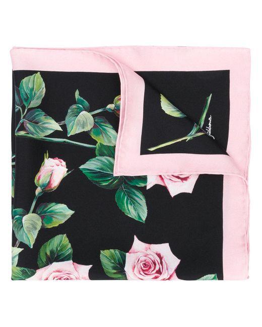Dolce & Gabbana ローズプリント スカーフ Multicolor