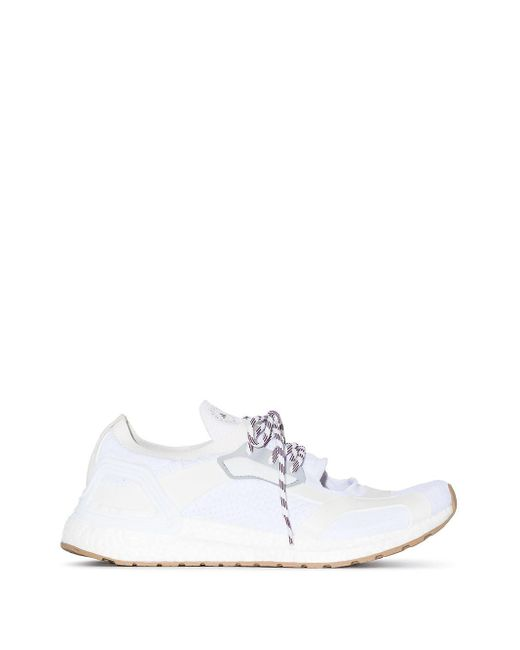 Adidas By Stella McCartney White Ultraboost Low-top Cutout Sneakers