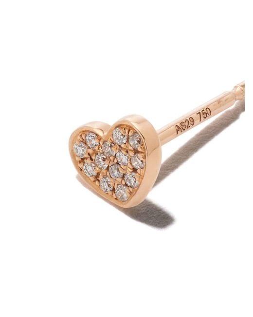 AS29 Miami Heart ダイヤモンド ピアス 18kローズゴールド Multicolor