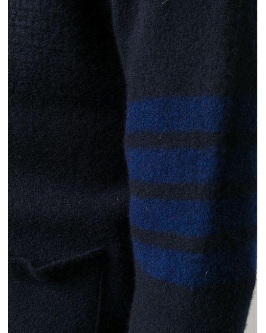 メンズ Thom Browne 4bar カーディガン Blue