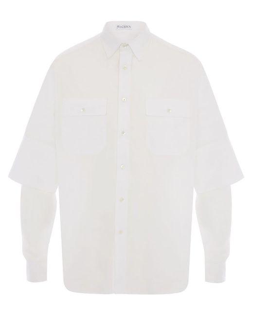 メンズ J.W. Anderson ダブルカフス シャツ White