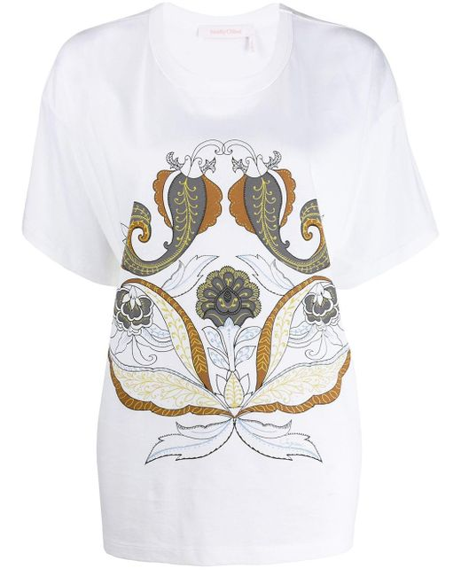 See By Chloé ペイズリー Tシャツ White