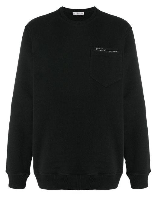 メンズ Givenchy ロゴ スウェットシャツ Black