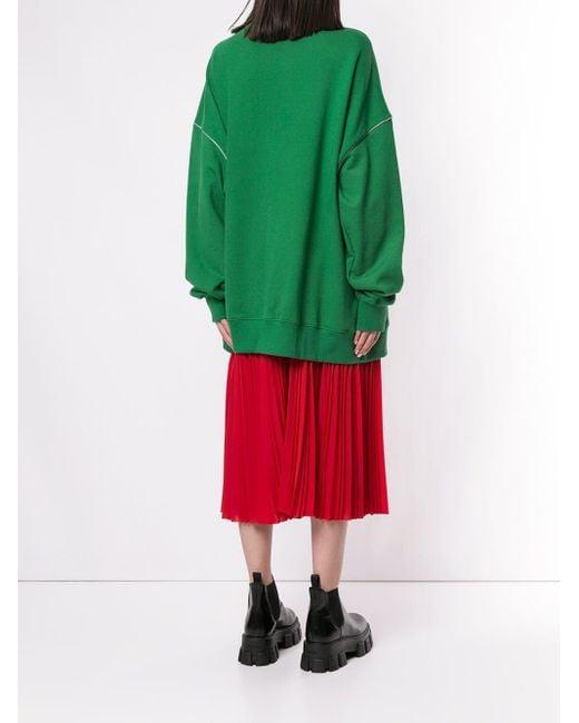 we11done ロゴ スウェットシャツ Green