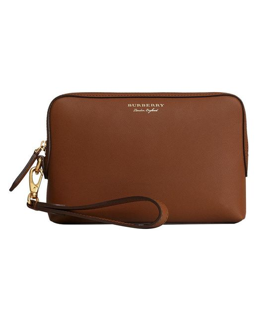 Burberry - Brown Logo Print Pouch - Lyst