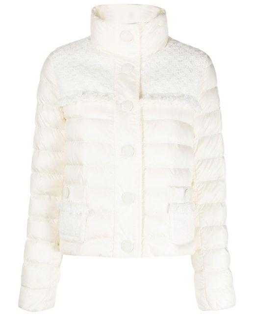 Moncler ツイードパネル パデッドジャケット White