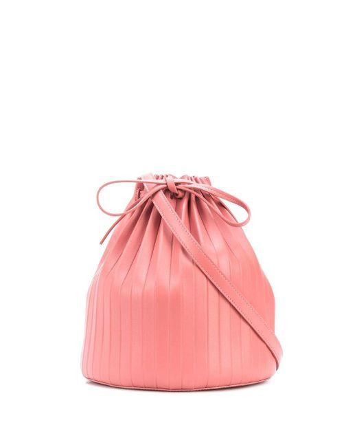 Mansur Gavriel プリーツ バケットバッグ Pink