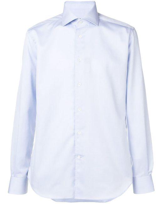 メンズ Corneliani ポインテッドカラー シャツ Blue