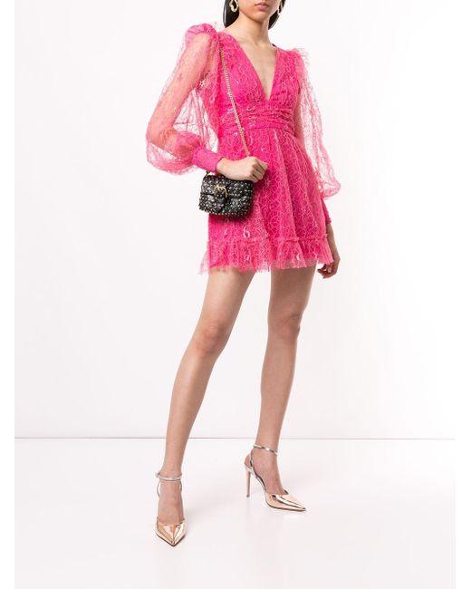 Alice McCALL Floyd レース ミニドレス Pink