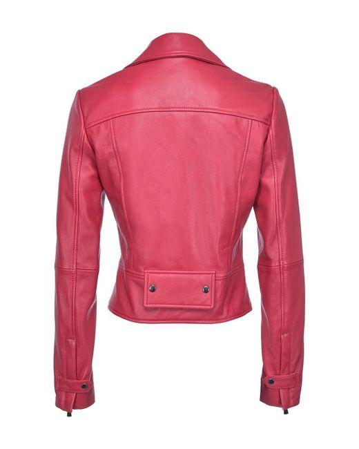 Pinko ライダースジャケット Red