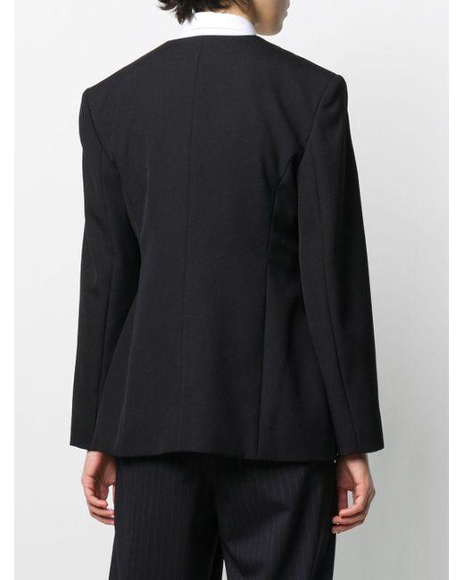 Enfold ノーカラー ジャケット Black