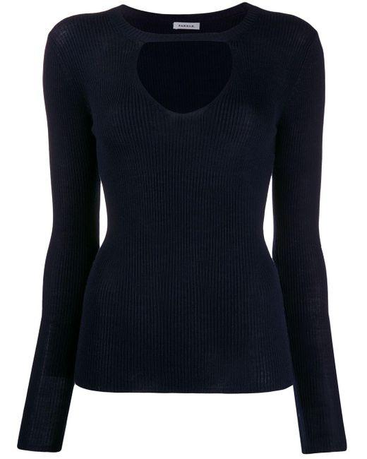 P.A.R.O.S.H. キーホールディテール セーター Blue