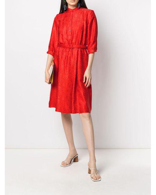 A.P.C. レオパード ドレス Red