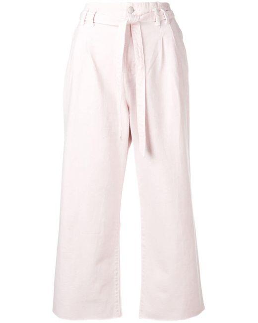 J Brand ベルテッド ワイドジーンズ Pink