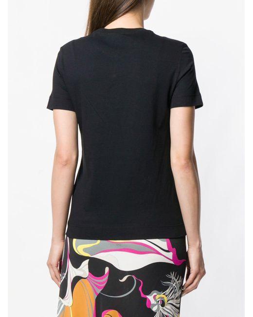 Emilio Pucci ラインストーンロゴ Tシャツ Black