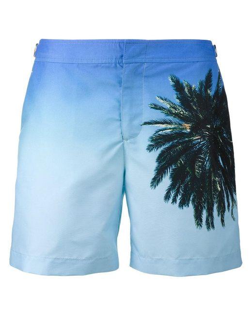 Orlebar Brown | Blue Bulldog Palm Reacher Swim Shorts for Men | Lyst