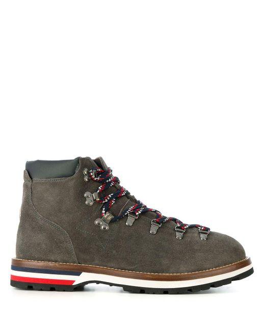 Moncler Gray Hiker Boots for men