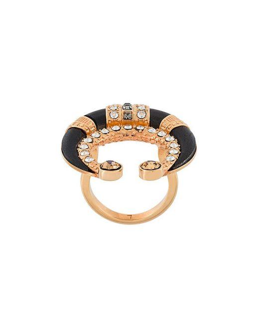 Ca&Lou - Black Crystal Embellished Ring - Lyst
