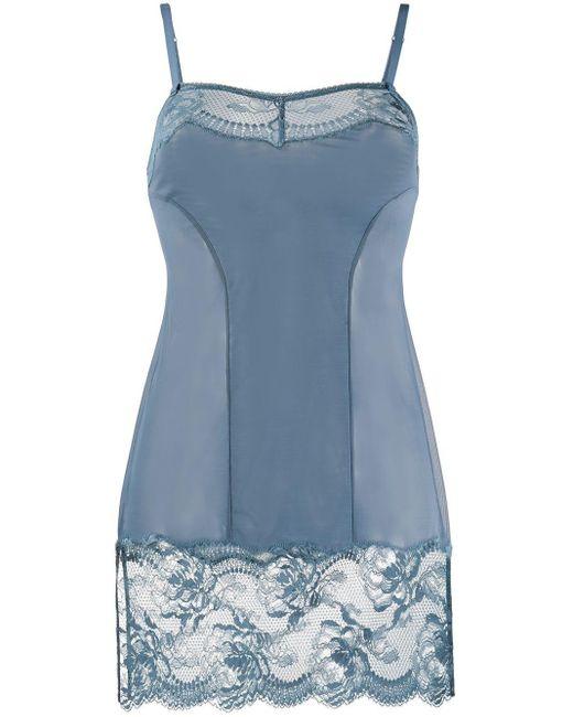 La Perla Brigitta スリップドレス Blue