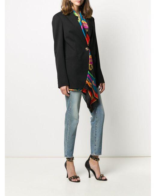Versace レイヤード ジャケット Black