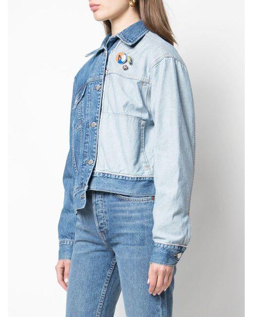 Monse バイカラーデニムジャケット Blue