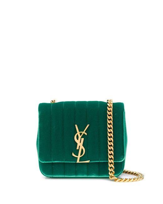 Saint Laurent Green Vicky Crossbody Bag