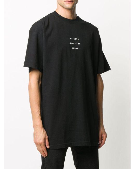 メンズ Vetements スローガン Tシャツ Black