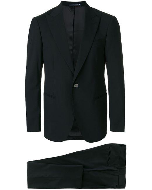 メンズ Bagnoli Sartoria Napoli ツーピース スーツ Black